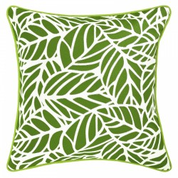 Tulum Palm Outdoor Cushion with Piping - 45x45cm