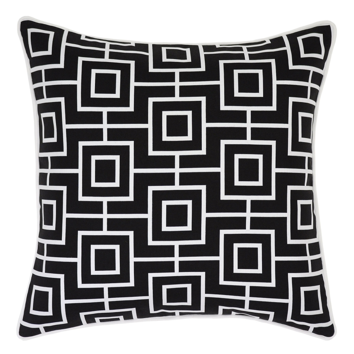 Bondi Ash Outdoor Cushion with White Piping - 45x45cm