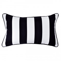Mallacoota Ash Outdoor Cushion with Black Piping - 30x50cm
