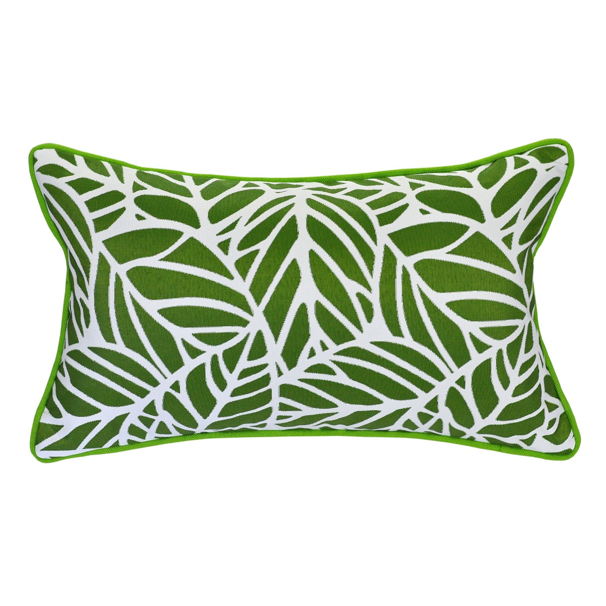 Tulum Palm Outdoor Cushion with Piping - 30x50cm
