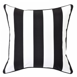 Mallacoota Ash Outdoor Cushion with Black Piping - 50x50cm