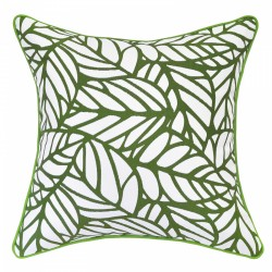Tulum Palm Reverse Outdoor Cushion with Piping - 45x45cm