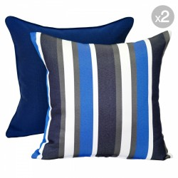Mindill Denim + Noosa Navy Outdoor Cushions - 45x45cm