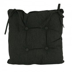 Linen Black Chair Cushion 45x45cm