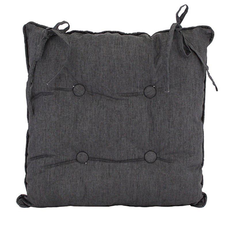 Linen Grey Chair Cushion 45x45cm