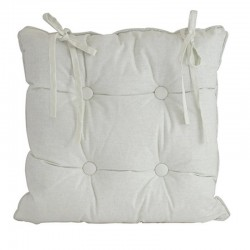 Linen White Chair Cushion 45x45cm