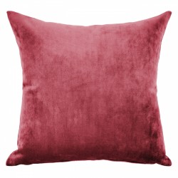 Mystere Red Velvet Cushion - 45x45cm