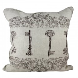 Keys Artwork Cushion - 45x45cm