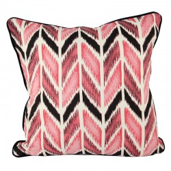 Chevron Ikat Pink Cushion - 45x45cm