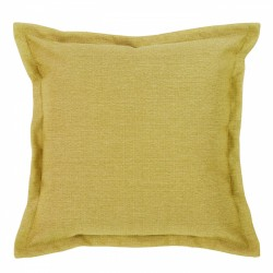 Vegas Chartreuse Cushion with Flange - 55x55cm