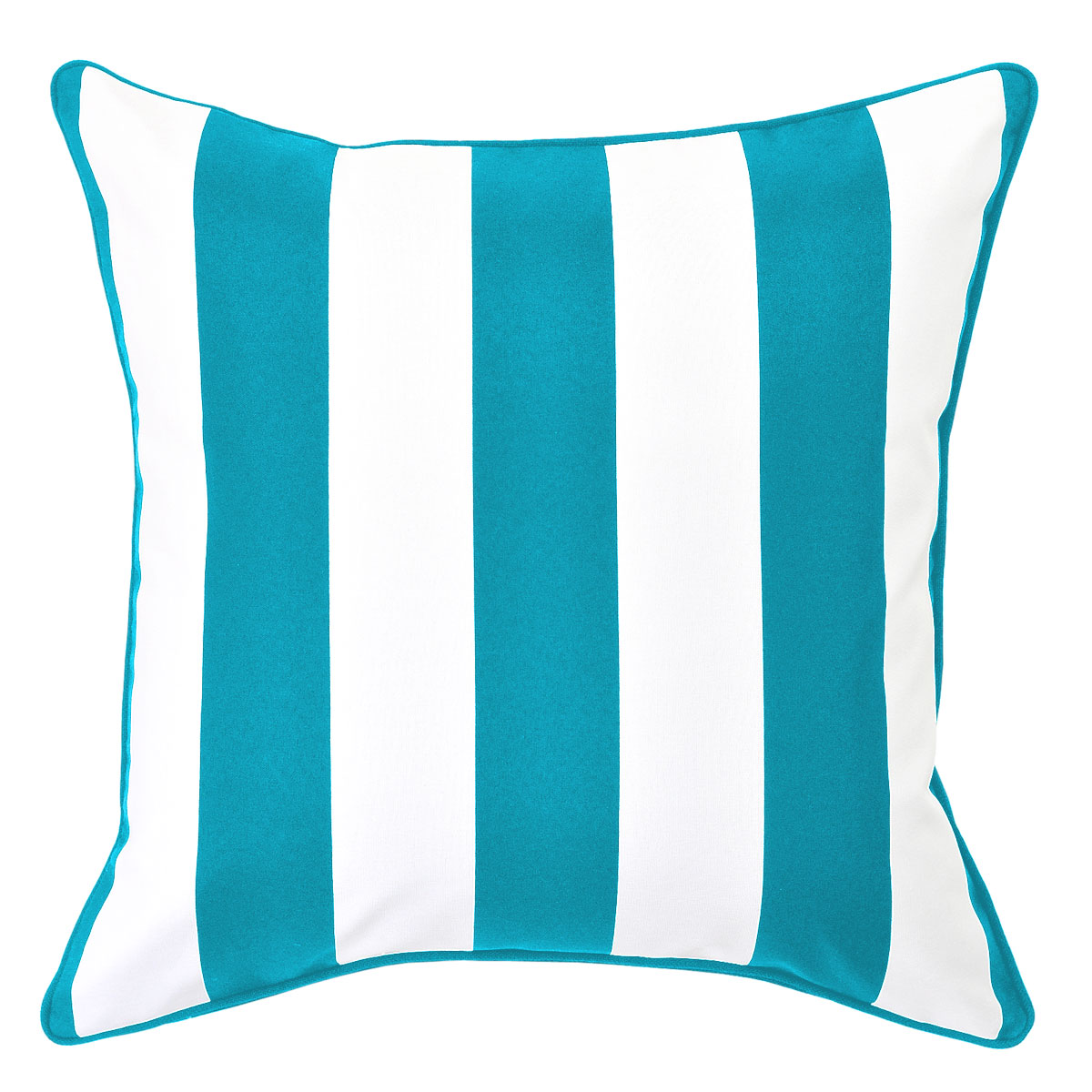 Mallacoota Turquoise Outdoor Cushion with Turquoise Piping - 50x50cm