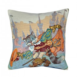 Puss in Boots Tapestry Cushion - 30x30cm