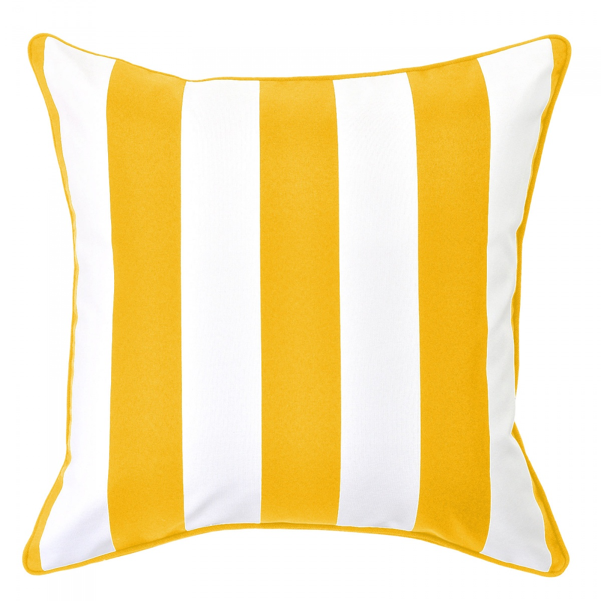 Mallacoota Sunshine Outdoor Cushion with Yellow Piping - 45x45cm