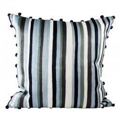 Miami Stripe Grey Cushion - 45x45cm