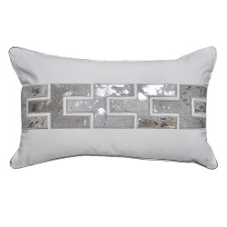 Zipper White Rectangle Cushion - 30x50cm
