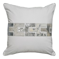 Zipper White Square Cushion - 45x45cm