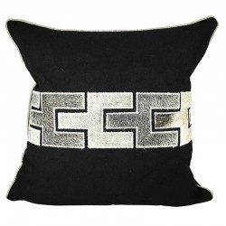 Zipper Black  Square Cushion - 45x45cm
