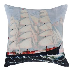 Ship Artwork Cushion - 45x45cm