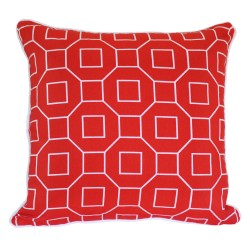 Geometric Red Double Sided Cushion - 43x43cm