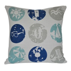 Beachlife Double Sided Cushion - 45x45mm