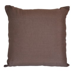 Linen Chocolate Cushion - 45x45cm