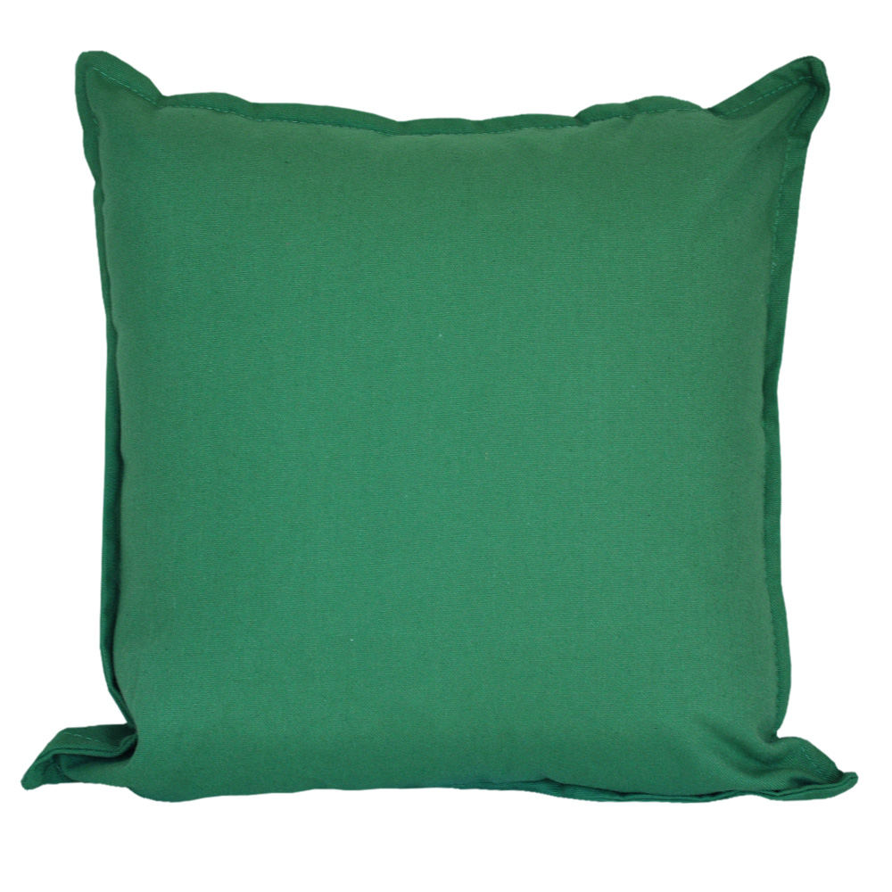 Cotton Duck Olive Green Cushion - 45x45cm