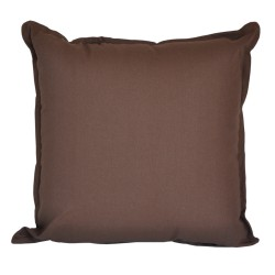 Cotton Duck Chocolate Cushion - 45x45cm