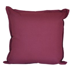 Cotton Duck Burgundy Cushion - 45x45cm
