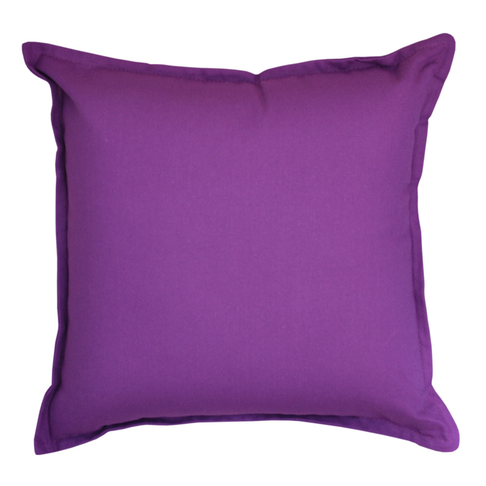 Cotton Duck Purple Cushion - 45x45cm