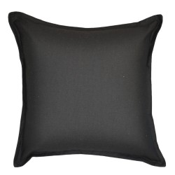 Cotton Duck Black Cushion - 45x45cm