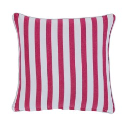 Gelato Stripe Raspberry Cushion - 43x43cm