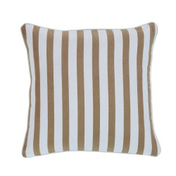 Gelato Stripe Taupe Cushion - 43x43cm