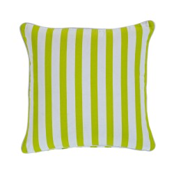 Gelato Stripe Lime Cushion - 43x43cm