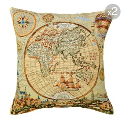 World Tapestry Cushion - Set of 2 50x50cm