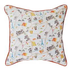 Map of Paris Cushion - 45x45cm
