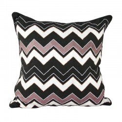 Chevron Black Cushion - 45x45cm