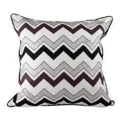 Chevron White Cushion - 45x45cm