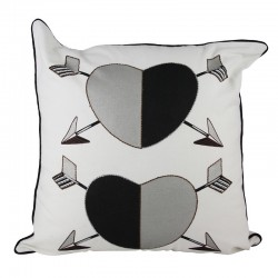 Two Hearts Cushion - 45x45cm