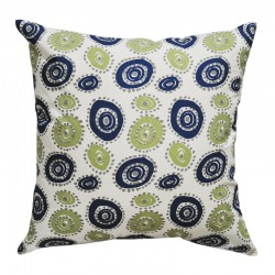 Wheelie Felix Blue and Natural Cushion - 45x45cm