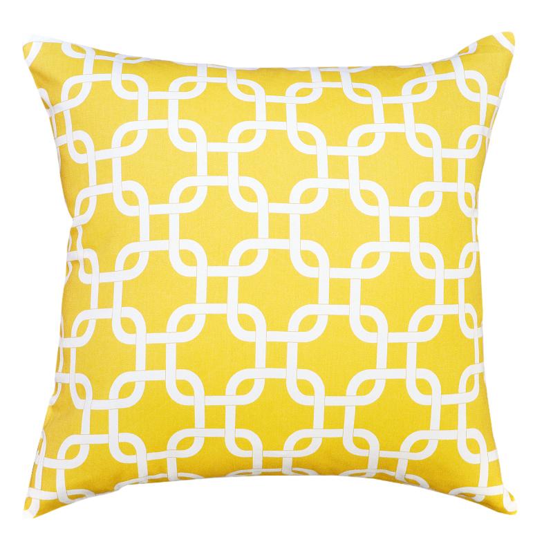 Gotcha Twill Corn Yellow Cushion 45x45cm   Hupper