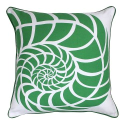 Sea Shell Green Cushion - 45x45cm