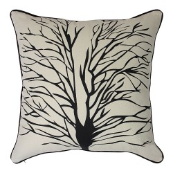 Tree Of Hope Black Cushion - 45x45cm