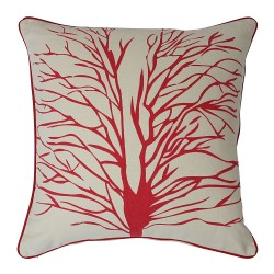 Tree Of Hope Red Cushion - 45x45cm