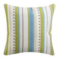 Brook Stripe Summerland Citrine Natural Cushion  - 45x45cm