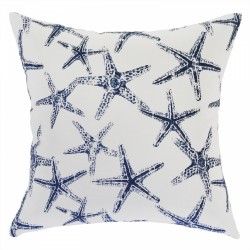 Sea Friends Slub Navy Cushion - 45x45cm
