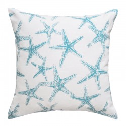 Sea Friends Slub Coastal Blue Cushion - 45x45cm