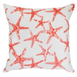 Sea Friends Slub Salmon Cushion - 45x45cm