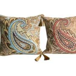East Tapestry Cushion with Tassels - Set of 2 38x38cm