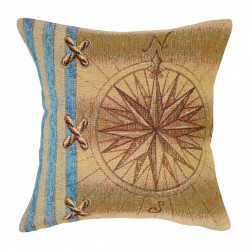Compass Rose Tapestry Cushion - 38x38cm