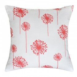 Dandelion White Coral Cushion - 45x45cm